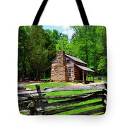 Oliver Cabin 1820s Tote Bag by David Lee Thompson