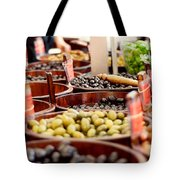 Olives In Barrels Tote Bag