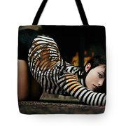 Olivia Wild And The Tiger Tote Bag