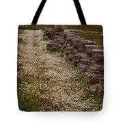 Olympia Ruins And Wild Flowers   #9679 Tote Bag