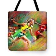 Olympics 100 Metres Hurdles Sally Pearson Tote Bag