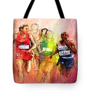 Olympics 10000m Run 01 Tote Bag