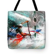 Olympics Canoe Slalom 02 Tote Bag by Miki De Goodaboom