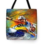 Olympics Canoe Slalom 04 Tote Bag by Miki De Goodaboom