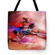 Olympics Heptathlon Hurdles 01 Tote Bag