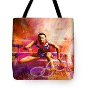 Olympics Heptathlon Hurdles 02 Tote Bag