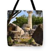 Olympus Ruins Tote Bag by Brian Jannsen