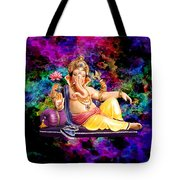 Om Shanti Ganesh Tote Bag