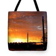 Omaha Sunrise Tote Bag by Jeff Lowe