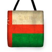 Oman Flag Vintage Distressed Finish Tote Bag