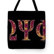 Omega Psi Phi - Black Tote Bag