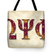 Omega Psi Phi - Parchment Tote Bag