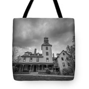Ominous Clouds At Batsto Village Bw Tote Bag