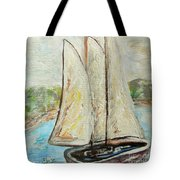 On A Cloudy Day - Impressionist Art Tote Bag