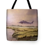 On A Mission - Hh60g Helicopter Tote Bag