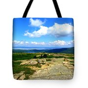 On A Mountain In Maine Tote Bag