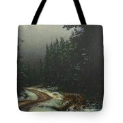 On A Snowy Evening Tote Bag