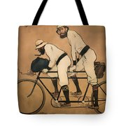 On A Tandem Tote Bag