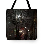 On A Walk In The Snow - Grants Pass Tote Bag