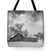 On A Winter Day Monochrome Tote Bag