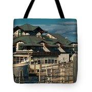 On Boston's Waterfront Tote Bag