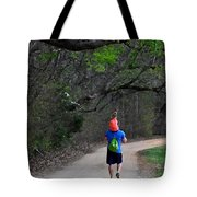 On Daddy's Shoulders Tote Bag