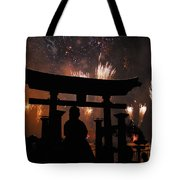 On Dad's Shoulders Tote Bag