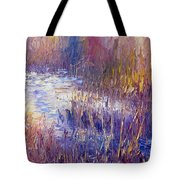 On Frozen Pond Tote Bag