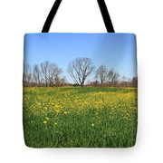 On Golden Field Tote Bag