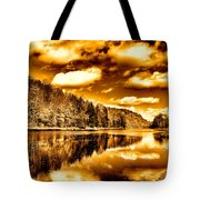 On Golden Pond Tote Bag by David Patterson