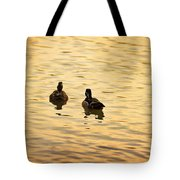 On Golden Pond Ducks Tote Bag