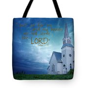 On Hallowed Ground - Bible Verse Tote Bag