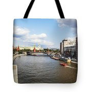 On Moscow River - Russia Tote Bag