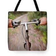 On My Mountain Bike Tote Bag