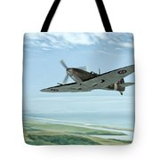 Spitfire On Patrol Tote Bag