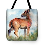 On Second Thought Tote Bag by Maria's Watercolor