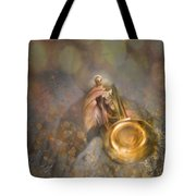 On Stage The Trumpeter Tote Bag