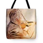 On Stage The Violinist Tote Bag
