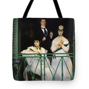 On The Balcony Tote Bag