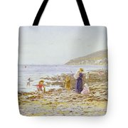 On The Beach Tote Bag by Helen Allingham
