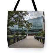 On The Bridge At Wharton  Tote Bag