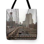 On The Brooklyn Bridge Tote Bag