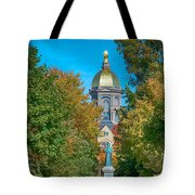 On The Campus Of The University Of Notre Dame Tote Bag