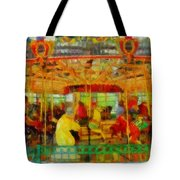 On The Carousel Tote Bag