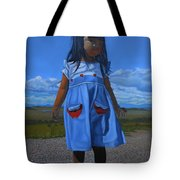 On The Divide Tote Bag