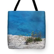 On The Edge Of Blue Tote Bag