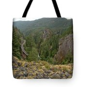 On The Edge Of The Cheakamus River Gorge Tote Bag