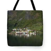 On The Edge Of The Fjord Tote Bag