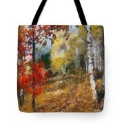 On The Edge Of The Forest Tote Bag