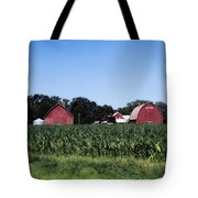 On The Farm In Belle Plaine Tote Bag